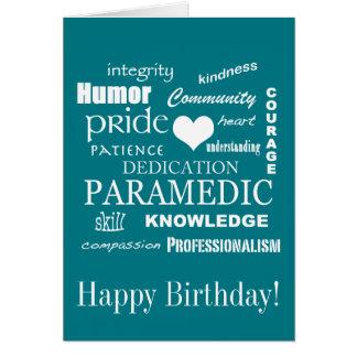 Happy Birthday/Paramedic/EMT Card