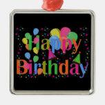 Happy Birthday Party Balloons Ornament