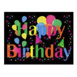 Happy Birthday Party Balloons Postcards