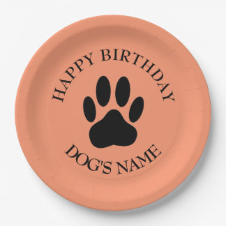 Happy Birthday Party For Dogs Paper Plate
