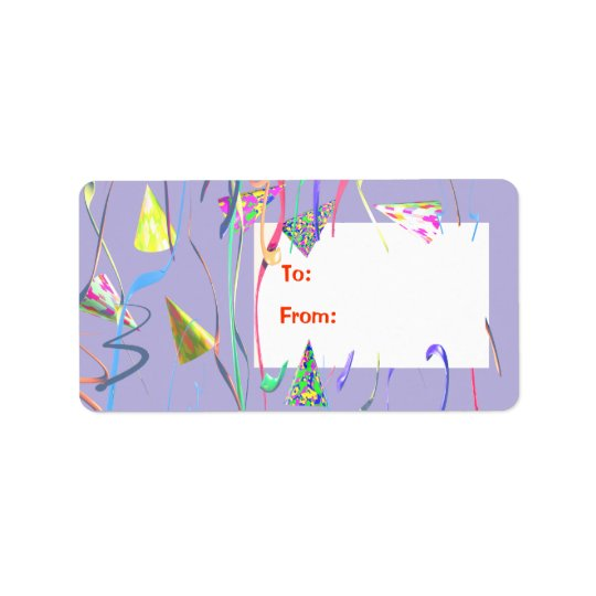 Happy Birthday Party Hats Gift Tag
