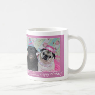 Happy Birthday Party Pug Mug