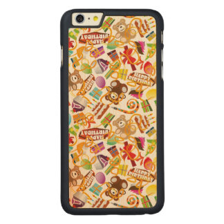 Happy Birthday Pattern Illustration Carved Maple iPhone 6 Plus Case