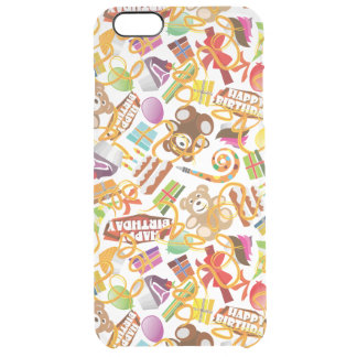 Happy Birthday Pattern Illustration Clear iPhone 6 Plus Case