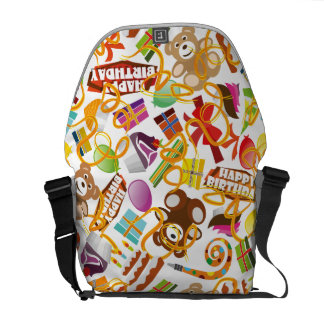 Happy Birthday Pattern Illustration Commuter Bag