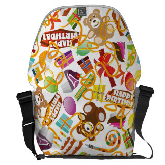 Happy Birthday Pattern Illustration Commuter Bags