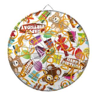 Happy Birthday Pattern Illustration Dartboard