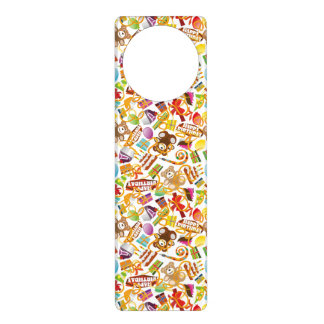 Happy Birthday Pattern Illustration Door Hanger