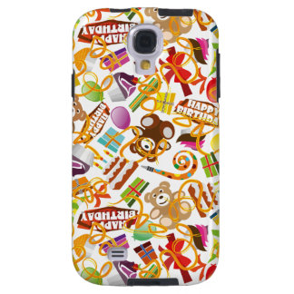 Happy Birthday Pattern Illustration Galaxy S4 Case