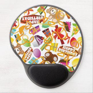 Happy Birthday Pattern Illustration Gel Mouse Pad