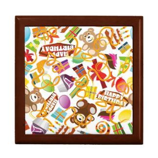 Happy Birthday Pattern Illustration Gift Box