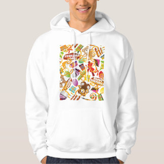 Happy Birthday Pattern Illustration Hoodie