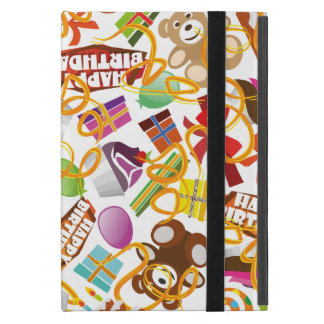 Happy Birthday Pattern Illustration iPad Mini Cover