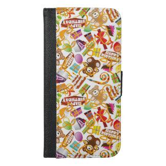 Happy Birthday Pattern Illustration iPhone 6/6s Plus Wallet Case