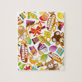 Happy Birthday Pattern Illustration Jigsaw Puzzle