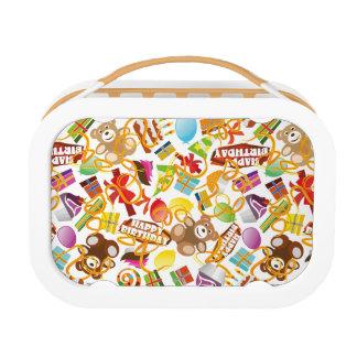 Happy Birthday Pattern Illustration Lunch Box