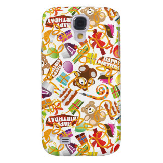 Happy Birthday Pattern Illustration Samsung Galaxy S4 Cover