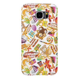 Happy Birthday Pattern Illustration Samsung Galaxy S6 Cases