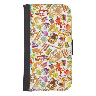 Happy Birthday Pattern Illustration Samsung S4 Wallet Case