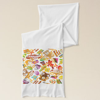 Happy Birthday Pattern Illustration Scarf Wraps