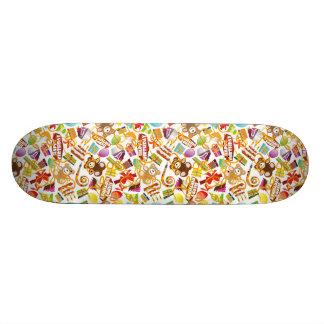 Happy Birthday Pattern Illustration Skate Board Decks