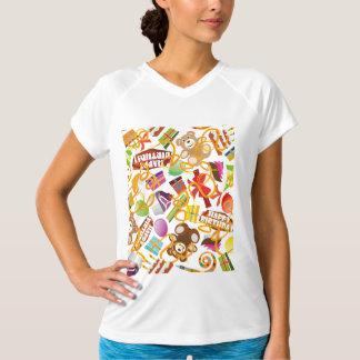 Happy Birthday Pattern Illustration T-Shirt