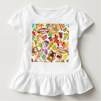 Happy Birthday Pattern Illustration Toddler T-Shirt