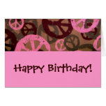 Happy Birthday!-Peace Signs Birthday Card