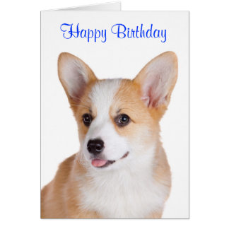 Happy Birthday Pembroke Welsh Corgi Greeting Card