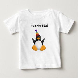 Happy Birthday Penguin Baby T-Shirt