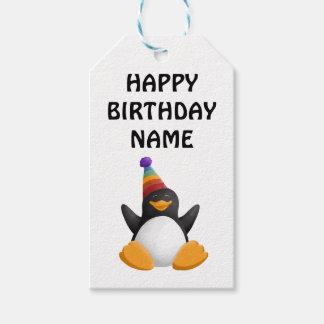 Happy Birthday Penguin Gift Tag