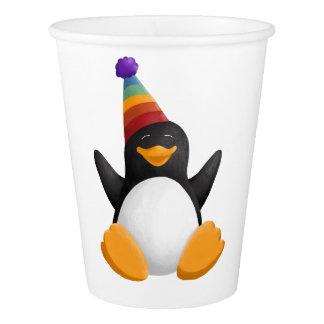 Happy Birthday Penguin Paper Cup