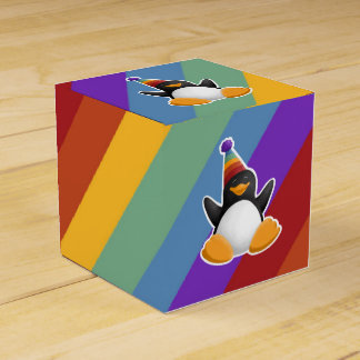 Happy Birthday Penguin Rainbow Gift Box