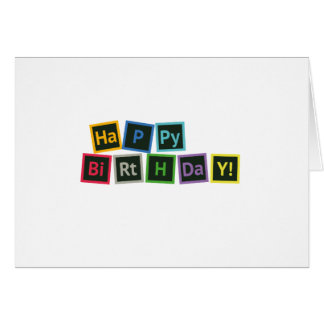 Happy Birthday Periodic Card