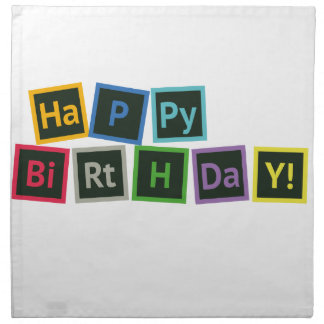 Happy Birthday Periodic Napkin