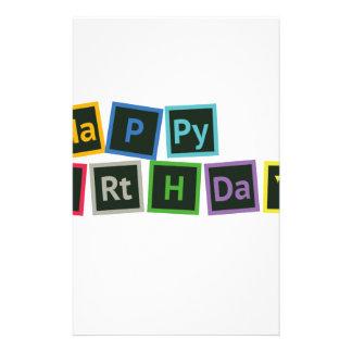 Happy Birthday Periodic Stationery