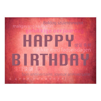 Happy Birthday Photo Print