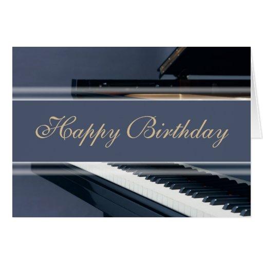 Happy Birthday - Piano Greeting Cards