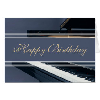 Happy Birthday - Piano Greeting Card