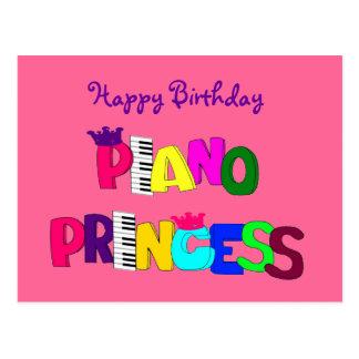 Happy Birthday Piano Princess Postcard
