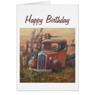 Happy Birthday Pickup Truck Card