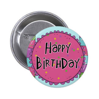 Happy Birthday Pin Button