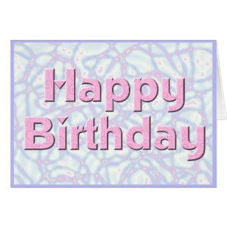 Happy Birthday Pink & Blue Card