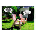 Happy Birthday, Pink Chairs Humour Greeting Card