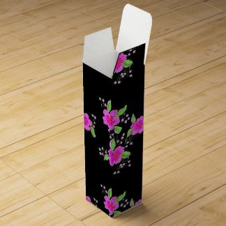 Happy Birthday Pink Flowered Wine Box For You