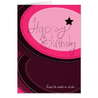 Happy Birthday pink greeting card