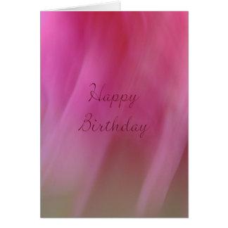 Happy Birthday - Pink Hue Greeting Card