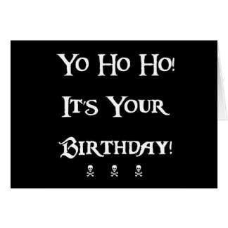 Happy Birthday Pirate Humour Greeting Card