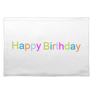 Happy Birthday Placemat