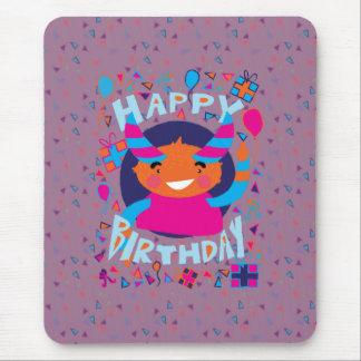 Happy Birthday Playful Monster Mousepad